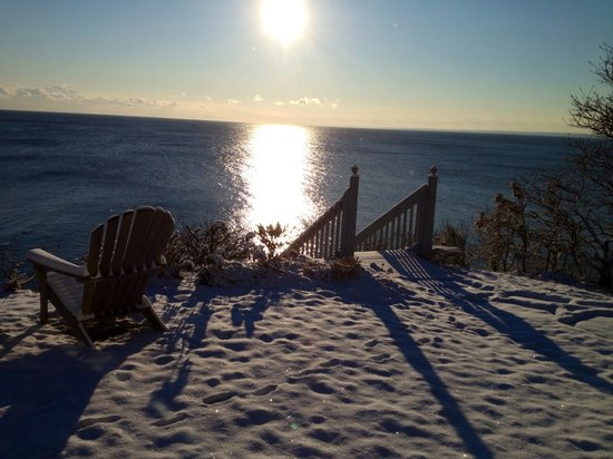 A Beach House Oceanfront Bed and Breakfast: Sunrise over the snow