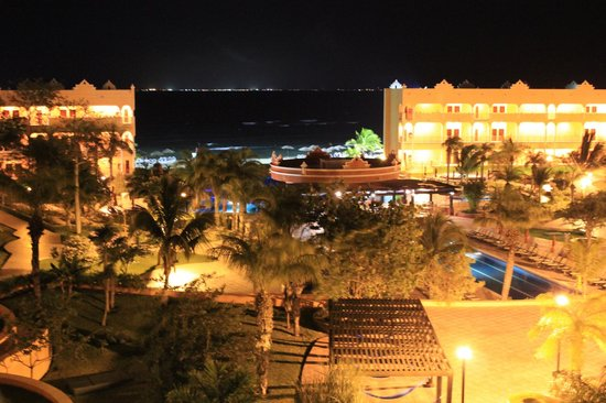 The Royal Haciendas:                   night view from our villa