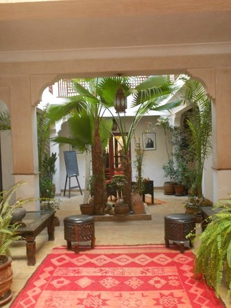 Riad Aladdin:                   indoor courtyard