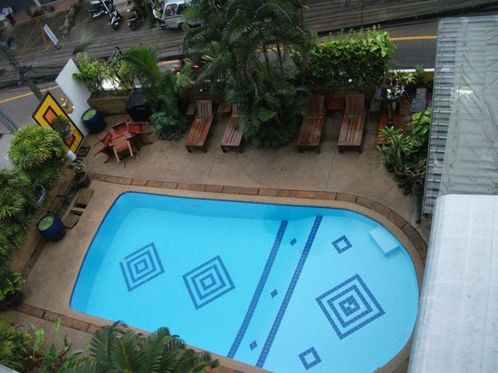Kelly's Hotel:                   View of pool from balcony