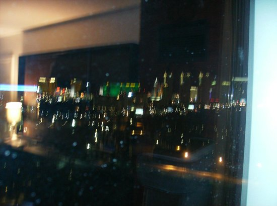 Hard Rock Hotel and Casino: View from first room--sorry for blur, but better than my second room view!