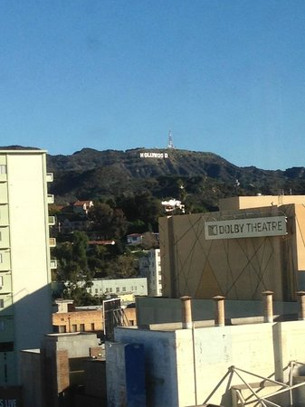 Hollywood Roosevelt Hotel - A Thompson Hotel: View of the Hollywood Sign from my room