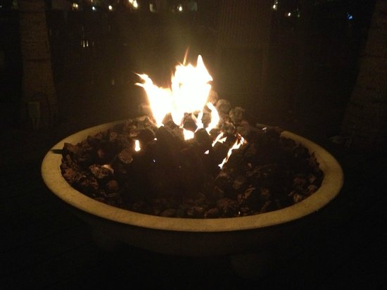 Seven Stars Resort:                   Gas fire pit in the lounge area at The Deck