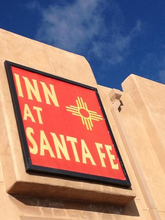 Inn At Santa Fe:                   Sign as we drove up -easy to spot off the highway