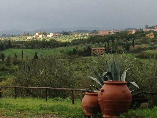 Villa Cambi B&amp;B:                   The view of Siena from the villa