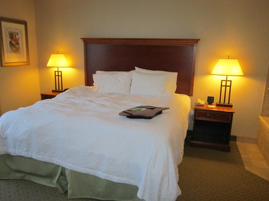Hampton Inn & Suites by Hilton Kitchener:                   The bed - Jacuzzi suite