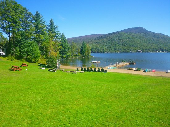 Prospect Point Cottages - Blue Mountain Lake: There's no beach quite like it in the mountains!