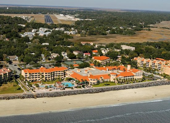 The King and Prince Beach and Golf Resort: Resort's Aerial