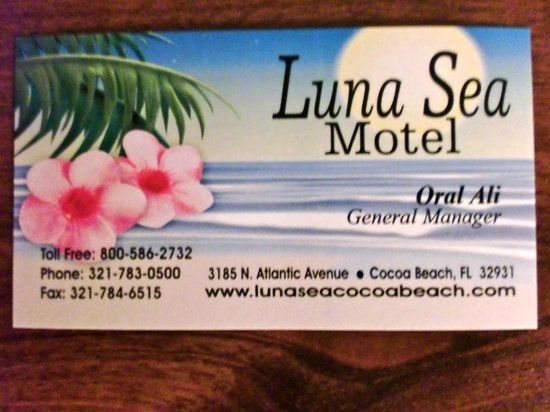 Luna Sea Motel:                   Here's the biz card...