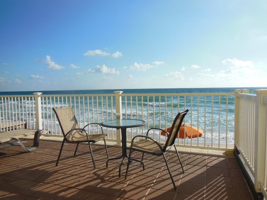 Sun Tower Hotel & Suites on the beach:                   Enjoyed a coffee on the patio