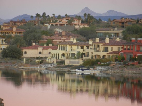 Ravella at Lake Las Vegas:                   our view from our room, but on zoom