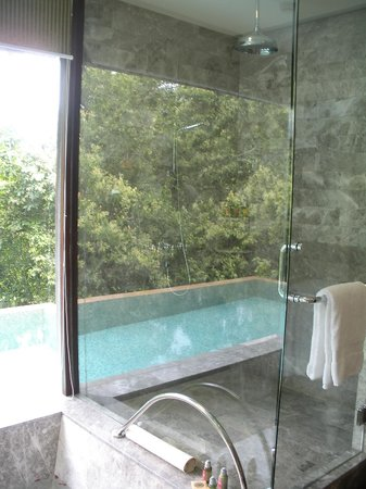 Four Seasons Resort Seychelles: One Bedroom Garden villa internal shower