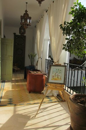 Riad Camilia:                   our balcony