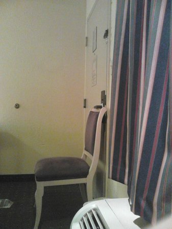 WOW Resort:                   Having to put a chair against the door