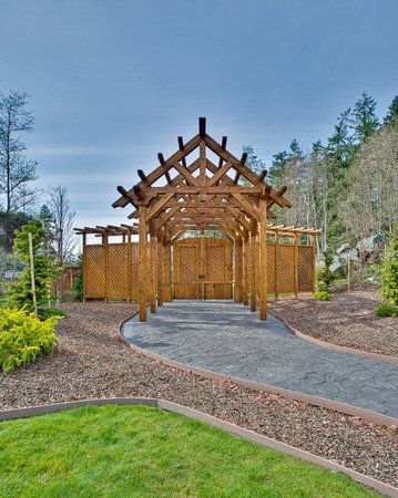 Oak Harbor, Waszyngton: Outdoor Garden Venue Entrance