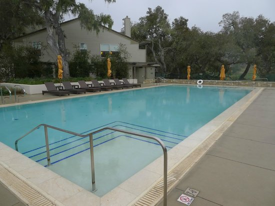 Carmel Valley Ranch: The pool with spa and exercise building beyond.