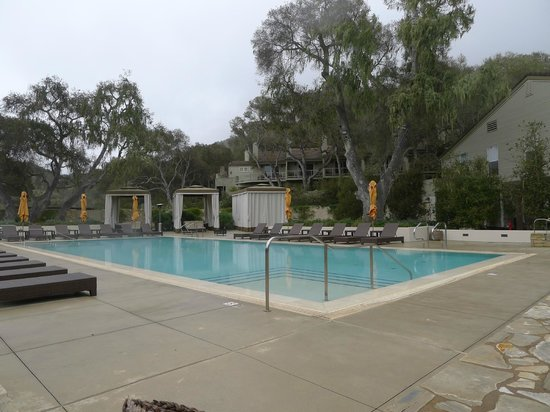 Carmel Valley Ranch: The pool with private cabanas beyond.