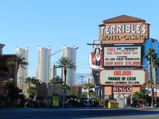 Terrible's Hotel & Casino :                   Hotel sign