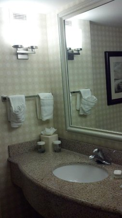 Hilton Garden Inn Savannah Midtown:                   CLEAN and well stocked bathroom, plenty of hand towels and bath cloths