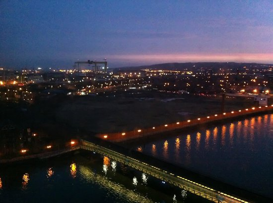 Hilton Belfast:                   View over the Titanic Quarter