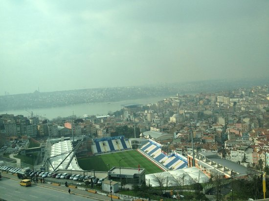 Rixos Pera Istanbul:                   Sea View from one of the windows of the room.