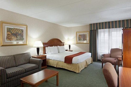 Holiday Inn Express Hotel & Suites: Roomy king size bed with living area.