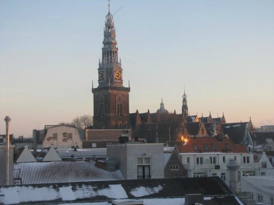 NH Amsterdam Grand Hotel Krasnapolsky: Around sunrise - view from the room