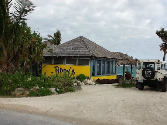 Pineapple Fields Resort:                                     Good food and libations and music, all on the beach