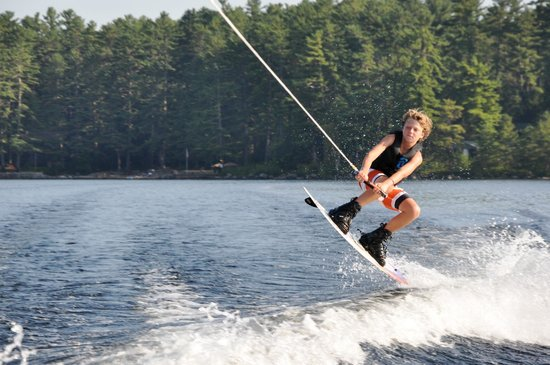 South Casco, ME: wakeboarding and waterskiing