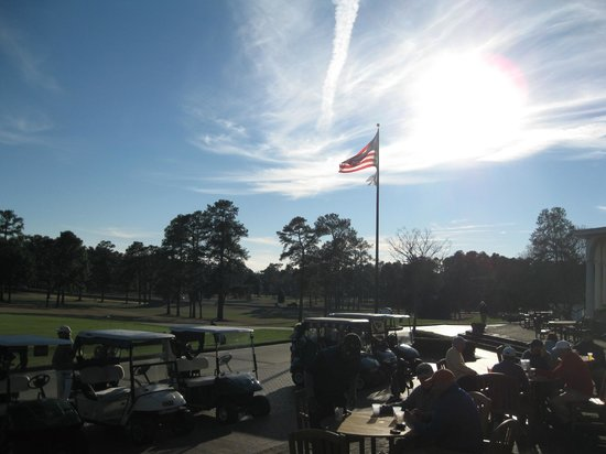 The Carolina - Pinehurst Resort:                   The view from the Pinehurst Golf Club veranda