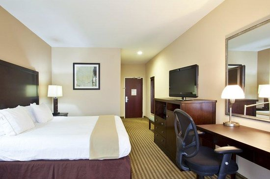 Holiday Inn Express Le Roy: King Bed Guest Room