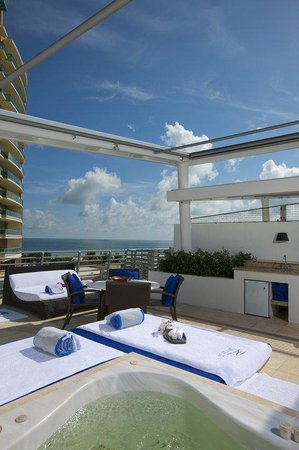 Z Ocean Hotel South Beach: Rooftop Jacuzzi Terrace