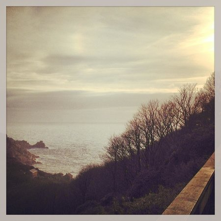 The Cove Cornwall:                                     View from our balcony