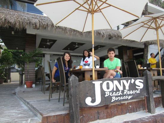 Jony&#39;s Beach Resort :                                                       View from the beach - Restaurant