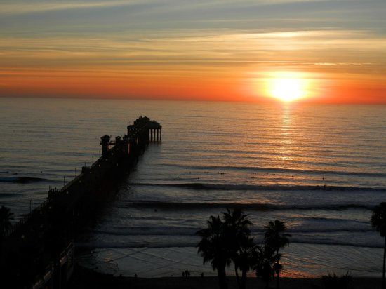 Wyndham Oceanside Pier Resort:                   Sunset