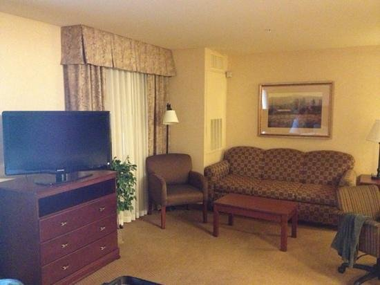 Hampton Inn &amp; Suites Burlington:                                     great room