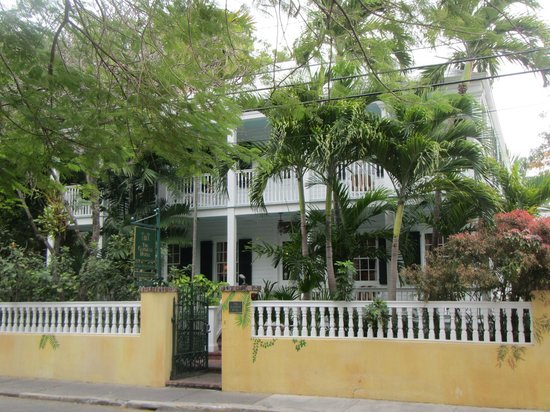 The Gardens Hotel:                                     front view of the hotel from Angela St.