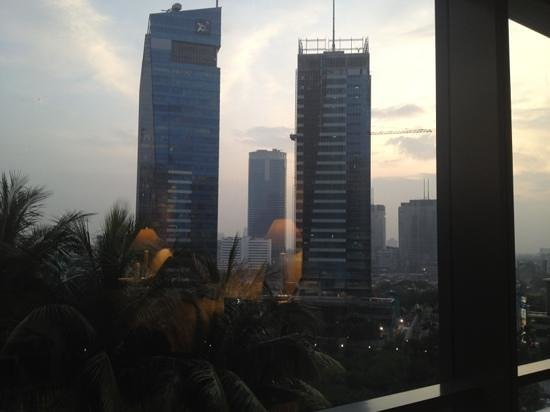 The Ritz-Carlton Jakarta, Mega Kuningan:                   view frm my room