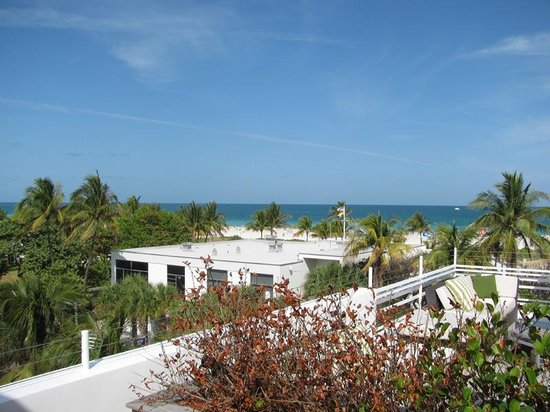 Hotel Breakwater South Beach:                   View from the VIP Penthouse Suite, looking toward Ocean Drive.