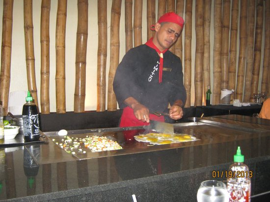 Dreams Palm Beach Punta Cana:                   Teppanyaki - Dominican style!