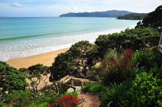 Coopers Beach, New Zealand:                   From the room deck
