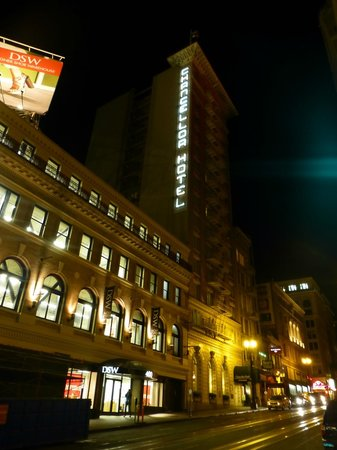 Chancellor Hotel on Union Square:                   Hotel at night