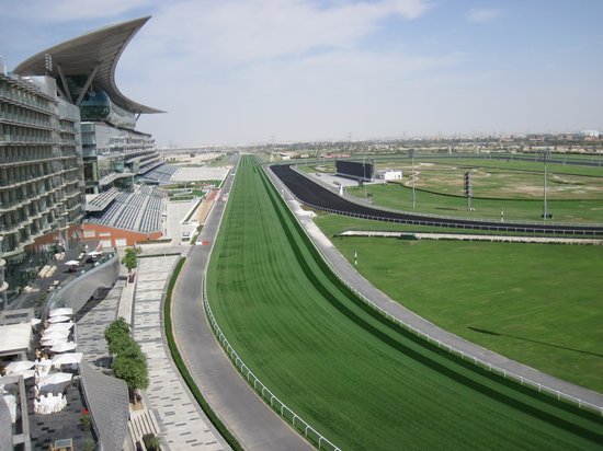 The Meydan Hotel:                   view from room