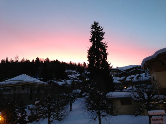 Chalet d'Antoine:                   Morning view from our balcony