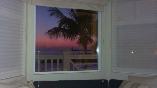 Southernmost on the Beach:                   Sunset view from inside our room