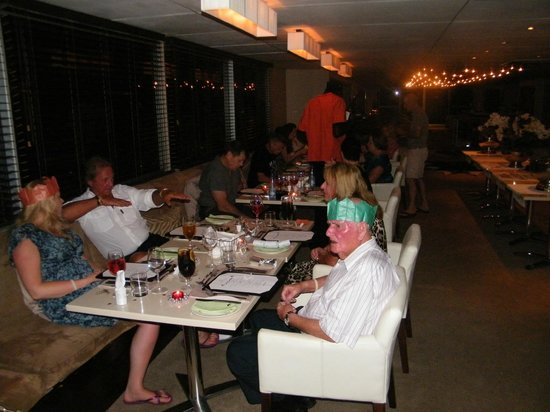 Zambezi Queen:                   Christmas feast in the dining area.