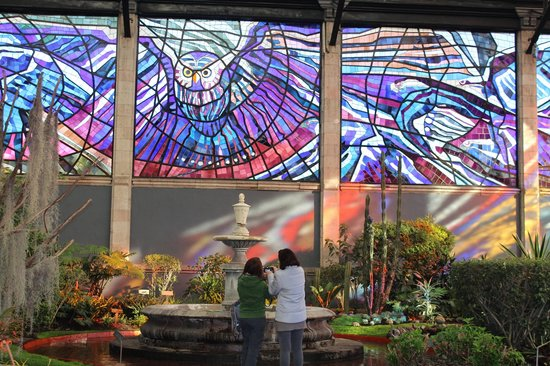 The stained glass murals are unique picture of for Mural unique