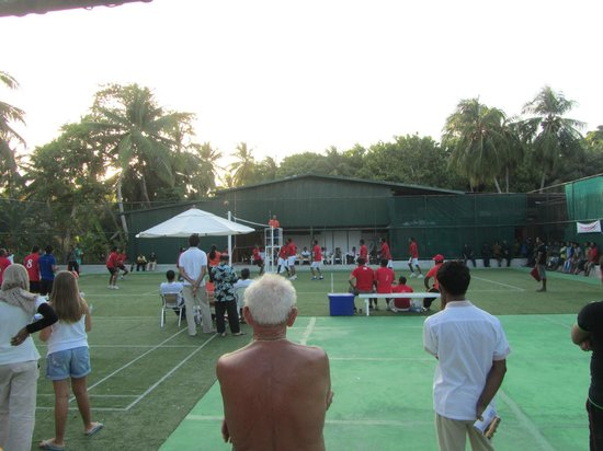 Kuramathi Island Resort:                   Volleyball ground