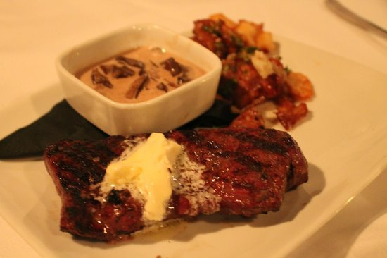 Franklin, TN:                   WAGYU Steak with Red Smashed Potato and Mushroom Sauce