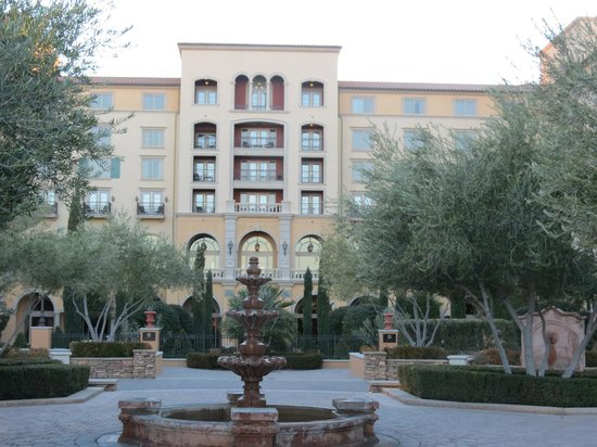 Ravella at Lake Las Vegas:                   back of hotel